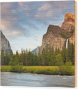 Yosemite Valley View Wood Print by Buck Forester