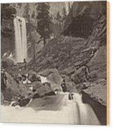 Yosemite: Vernal Fall Wood Print