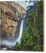 Yosemite Waterfall Wood Print
