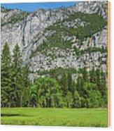 Yosemite West Valley Meadow Panorama #2 Wood Print
