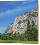 Yosemite West Valley Wood Print