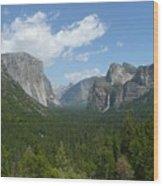 Yosemite's Inspiration Point Wood Print