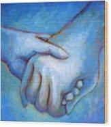 You And Me Wood Print by Angela Treat Lyon