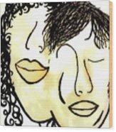 You And Me Sepia Tones Wood Print