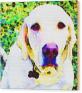 You Are My World - Yellow Lab Art Wood Print