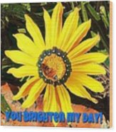 You Brighten My Day Wood Print