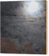 You Just Got Mooned Wood Print