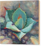 Young Agave Wood Print