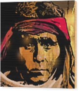Young Apache Brave Wood Print