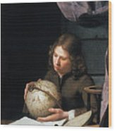 Young Astronomer Wood Print