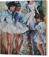 Young Ballerinas Wood Print