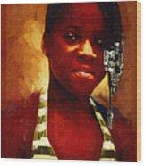 Young Black Female Teen 1 Wood Print