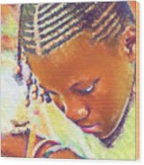 Young Black Female Teen 2 Wood Print