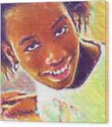 Young Black Female Teen 5 Wood Print