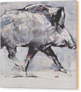 Young Boar Wood Print