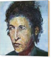 Young Bob Dylan  Wood Print