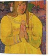 Young Christian Girl 1894 Wood Print