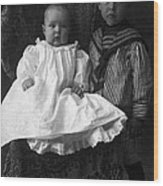 Young Ernest Lawrence And Brother, 1904 Wood Print