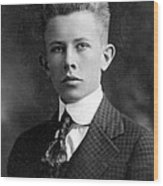 Young Ernest Lawrence Wood Print