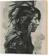 Young Faces From The Past Series By Adam Asar, No 108 Wood Print