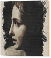 Young Faces From The Past Series By Adam Asar, No 117 Wood Print
