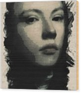 Young Faces From The Past Series By Adam Asar, No 75 Wood Print