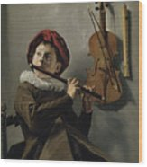 Young Flute Player , Judith Leyster, 1630 Wood Print