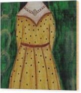 Young Frida Kahlo Series 1 Wood Print