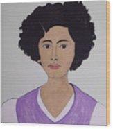 Young Frida Wood Print