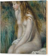 Young Girl Bathing, 1892 Wood Print