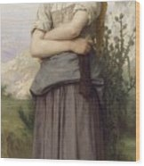 Young Girl, By William-adolphe Bouguereau Wood Print