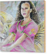 Young Girl From Tahiti Wood Print