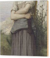 Young Girl Wood Print