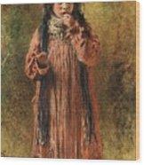 Young Gypsy By Konstantin Makovsky Wood Print