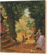 Young Lady Bountiful Wood Print