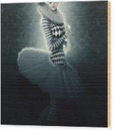 Young Lunar Pierrette Wood Print