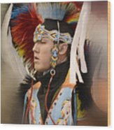 Pow Wow Young Man Wood Print