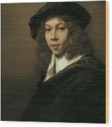 Young Man In A Black Beret Wood Print