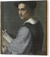 Young Man Wood Print
