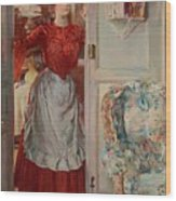 Young Man On A Door French Room, Emilio Wood Print