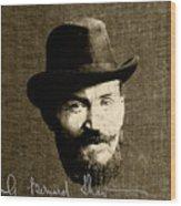 Young Man Shaw Wood Print