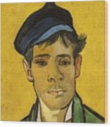Young Man With A Hat Wood Print