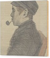 Young Man With A Pipe Nuenen, March 1884 Vincent Van Gogh 1853 - 1890 Wood Print