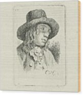 Young Man With Hat Wood Print