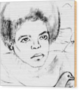 Young Micheal Jackson  Wood Print by HPrince De Artist