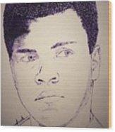 Young Muhammad Ali Wood Print