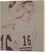 Young Nfl Montana Wood Print