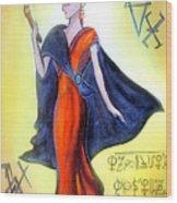 Young Queen Of Space Alien Civilization Wood Print