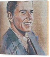 Young Ronald Reagan Wood Print