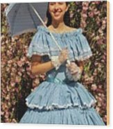Young Southern Belle Wood Print